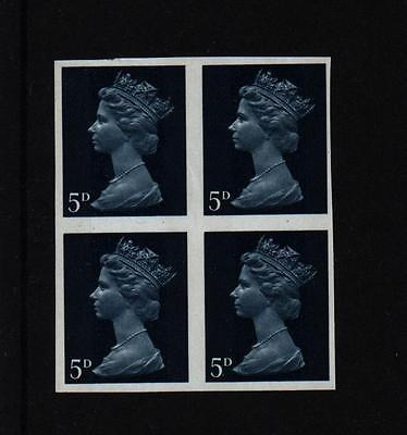 1969 BLOCK 5d  4 STAMPS ALL  IMPERF  ERROR MNH MACHIN DEFINITIVE IMPERFORATE