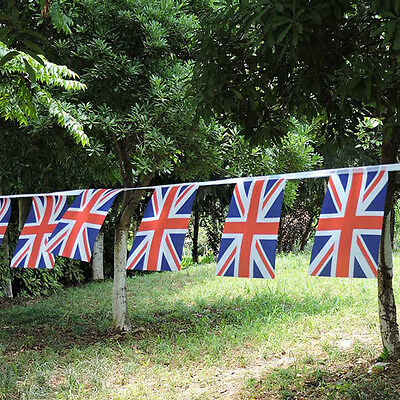 100ft Union Jack Bunting Banner Flags UK GB Party Queens 90th Birthday Celebrate