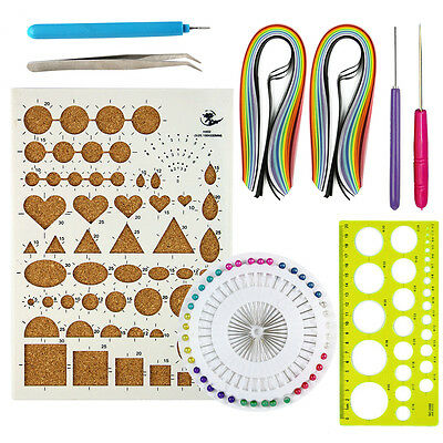 Starter Quilling Paper Kits Cork DIY Tool Workboard Slotted Tool
