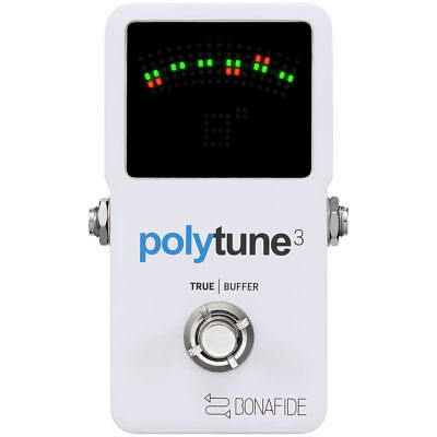 TC Electronic Polytune 3 Guitar Pedal Tuner with True Bypass & Bona Fide Buffer