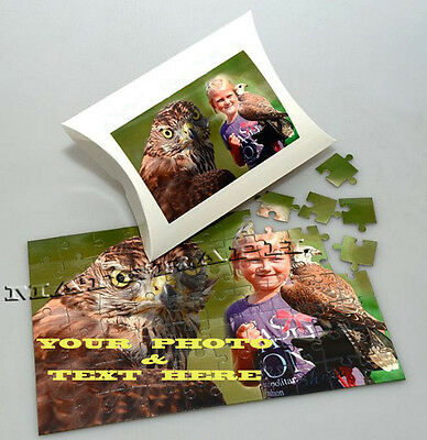 PERSONALISED JIGSAW PUZZLE A4 + Box. Your photo Custom printed