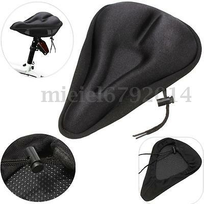 Bike Bicycle Saddle Seat Cover Road Cycling Extra Comfort Pad Cushion Soft Gym
