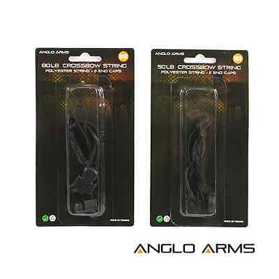 Deluxe 50lb Or 80lb Replacement Pistol Crossbow String + End Caps