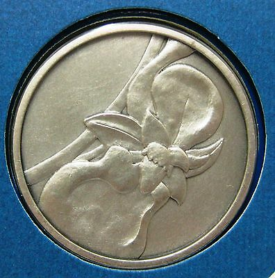 Sterling Silver Medal / Orchids