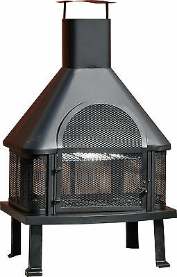 Outdoor log burner Chiminea and BBQ