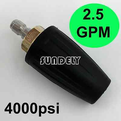 2.5 GPM Washer Turbo Head Nozzle for High Pressure Water Cleaner 4000PSI Black
