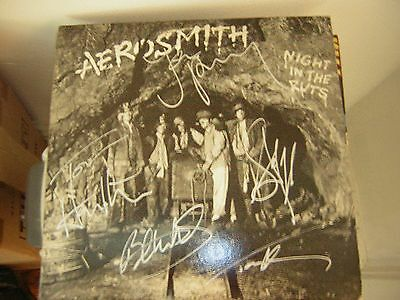 - Aerosmith Signed Lp Night In The Ruts Steven Tyler Joe Perry