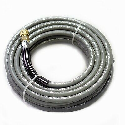 4000psi Pressure Washer Hose 50' Gray Non Marking Cover With Couplers Installed
