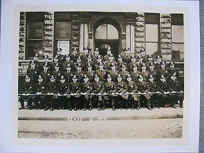 Chicago Police Department Graduation Class G 1941 Photo Print