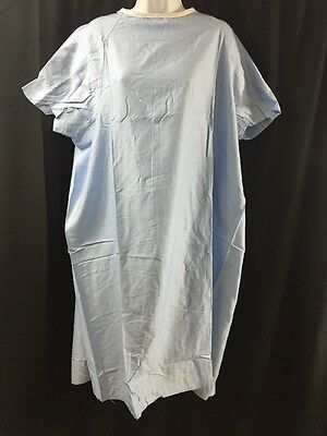 NEW LOT OF 5 Short Sleeve Hospital Gowns Blue