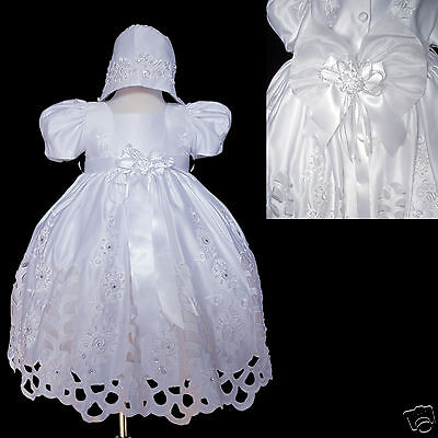 Infant Toddler /& Girl Easter Pageant Party Formal Christening Dress 6-36M White