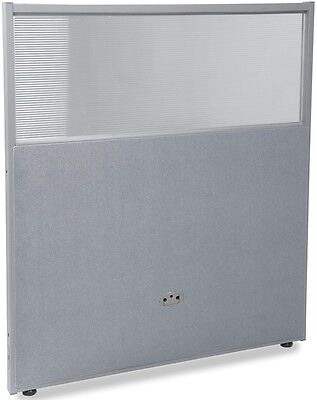 47'' H x 37'' W Poly Panel w/Translucent Tops & Gray Vinyl - Partition Panels
