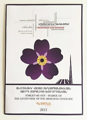 Forget-me-not 100anniversary Armenian Genocide stamp big philatelic booklet gift