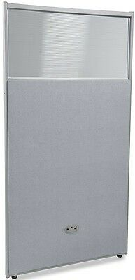 63'' H x 31'' W Poly Panel w/Translucent Tops & Gray Vinyl - Partition Panels