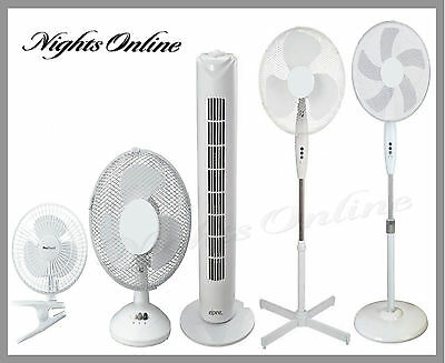 """4"""" 6"""" 9"""" 12"""" 16"""" Portable Desk/Stand Fans, Electric Powered  For Home/Office"""
