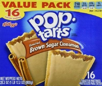 Kellogg's Pop Tarts Frosted Brown Sugar Cinnamon Toaster Pastries Value Pack