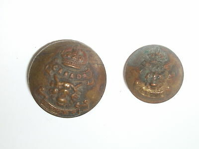 Two RNWMP Royal North West Mounted Police Original Brass Buttons