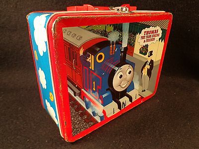 1997 Thomas The Tank Engine And Friends Metal Lunch Box More Rare Version Clean