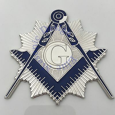 "New 3D..Masonic Master Mason Cut out Car, Multipurpose 3"" Nickel Silver emblem,"