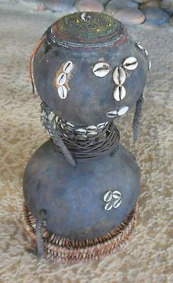 """Very Rare African Tribal """"mwali"""" Weighted Gourd Doll From The Tongo Yao People Z"""