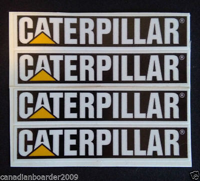 "4PCS 3"" Inch Caterpillar® Deisel Truck Door Handle Vinyl Decal Sticker Equipment"