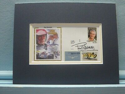 Paul Newman And First Day Cover Of The Stamp