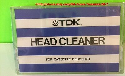 Vintage TDK HC-1 Head Cleaner For Cassette Players, New/Sealed RARE!