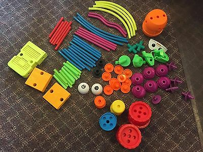 Vintage Tinker Toy Lot Plastic Eyes Feet & Parts Building Construction Guc