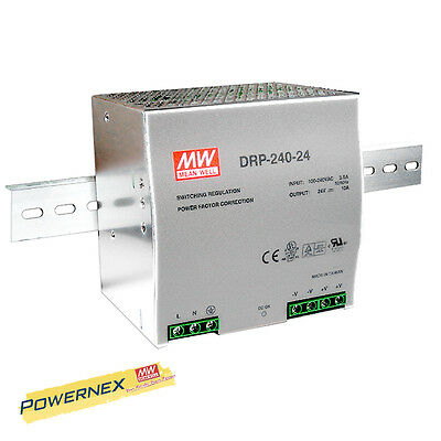 MEAN WELL [PowerNex] DRP-240-24 240W Industrial DIN Rail Power Supply BRAND NEW