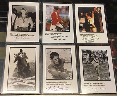 Australian  Olympic Gold Medalist- Lot Of 6 Signed Photos