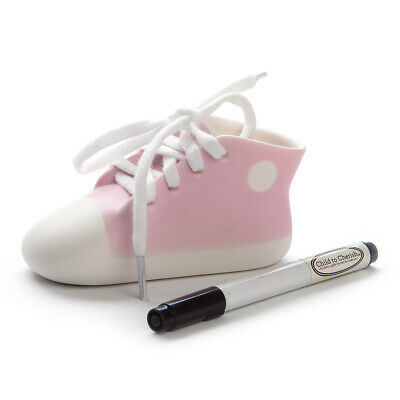 NEW Child To Cherish Porcelain Pink Keepsake Shoe