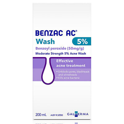 DJP NEW Benzac AC 5% Wash 200mL | Benzoyl Peroxide