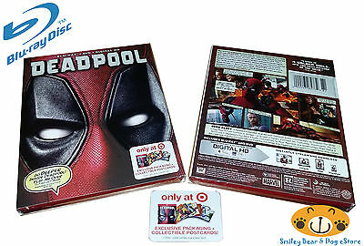 DEADPOOL Blu Ray + DVD + Digital HD + Postcards TARGET Exclusive Packaging *NEW*