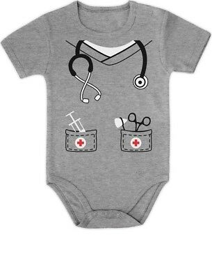Infant Doctor, Physician, Nurse Costume Halloween Cute Baby Onesie Gift Idea