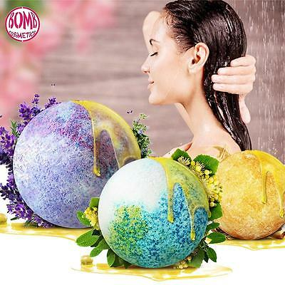 100g Round Pattern Bath Bombs Bath Blasters Individually Wrapped Handcrafted