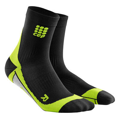CEP Running Dynamic+ short socks Men black/green Neu!