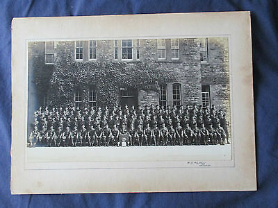 Post War Group Photo - Military Soldiers , Officers , Trophies - Harris , Oxford