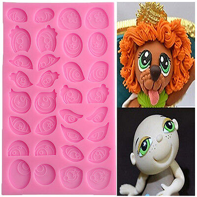 3D Assorted Cartoon Cute Eyes Silicone Fondant Mold Cake Decorating Kids Mould
