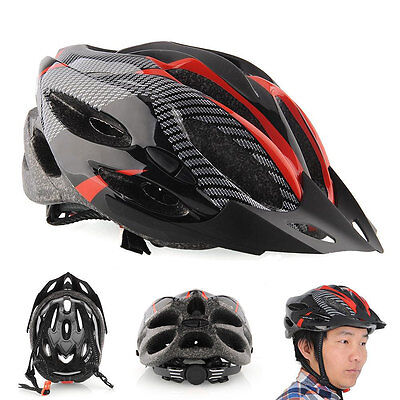 Red Mountain Road Race Bicycle Bike Cycling Safety Unisex Helmet + Visor carbon