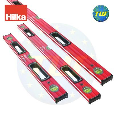 HILKA 3pc Triple Set Pack Double Milled Pro Box Beam Spirit Level 24 36 & 48in
