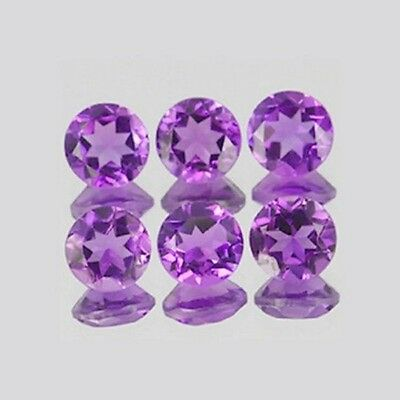 100 Pcs Natural Lot Amethyst 1.75 Mm Round Faceted Cut Loose African Gemstone