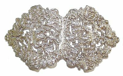 Vintage Fully Hallmarked Sterling Silver Ornate Nurses Belt Buckle (1964)