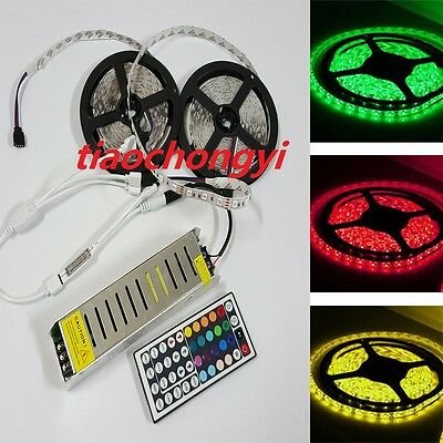 10M 5050 RGB Flexible led strip light+ 44keys IR Remote Controller+12V 10A Power