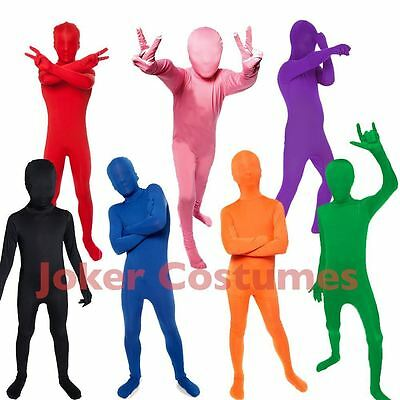 Kids Morphsuit Costume Plain Colour Great For Parties Halloween Book Week