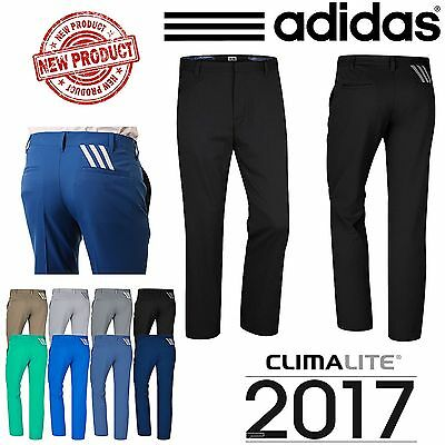 Adidas Golf Trousers Puremotion® Climalite Mens Golf Trousers Pants New **2017**