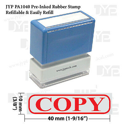 New JYP PA1040 Pre-Inked Rubber Stamp w. Copy & Frame