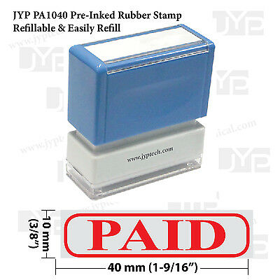 New JYP PA1040 Pre-Inked Rubber Stamp w. Paid & Frame
