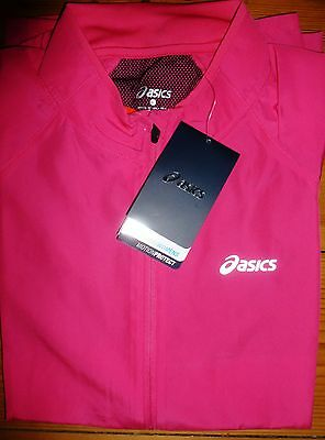 Asics Woven Womens Lightweight Running Jacket Wind Resistant Size L Uk14 New Nwt