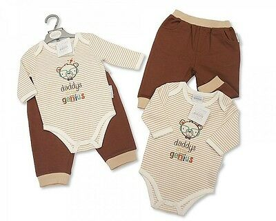 Baby Boy Clothing Outfit Bodysuit and Bottoms Genius New