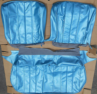 1966 Chevelle Bright Blue Front Bench Seat Covers Set